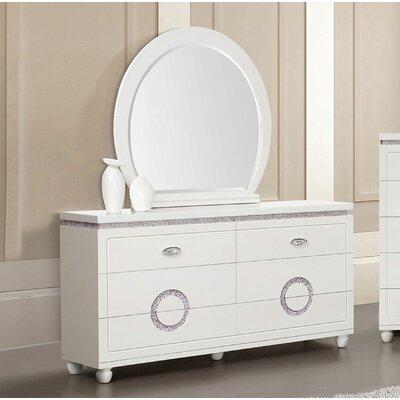 Orren Ellis Drawer Double Dresser Mirror