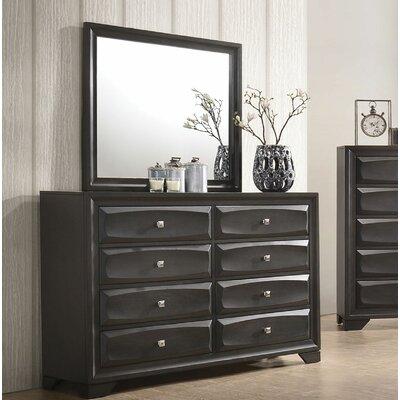 Ebern Designs Drawer Double Dresser Mirror