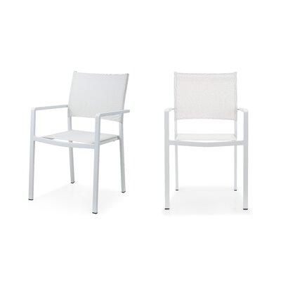 Meelano Grdn Patio Dining Chair White