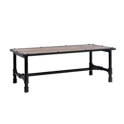Williston Forge Metal Frame Wood Coffee Table
