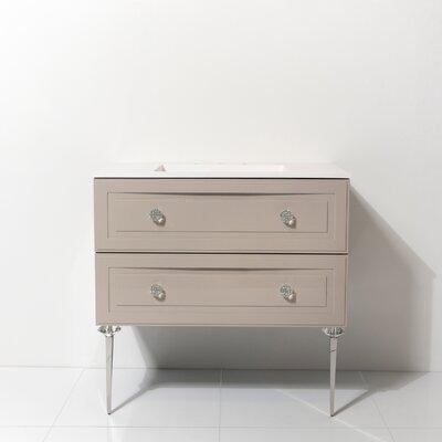 Everly Quinn Single Bathroom Vanity Set Base Turquoise