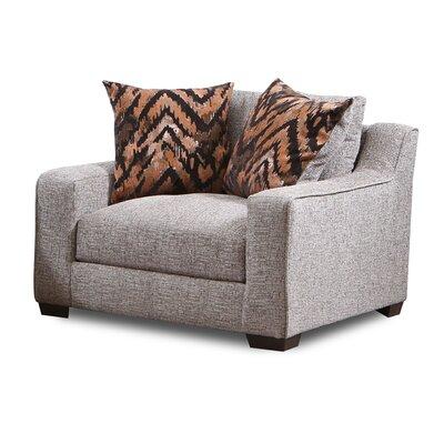 Ivy Bronx Chair Half Upholstery Homespun Stone