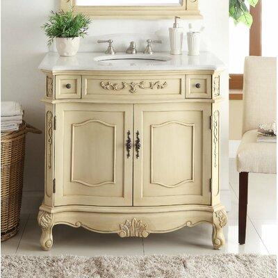 House Of Hampton Single Bathroom Vanity Set House Of Hampton Base Creamy Beige