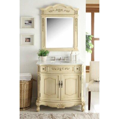 House Of Hampton Single Bathroom Vanity Set Mirror House Of Hampton