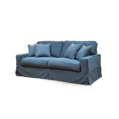 Breakwater Bay Slipcovered Sofa Upholstery Indigo Blue