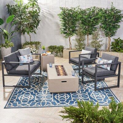 Latitude Run Sofa Seating Group Cushions Frame Light Gray