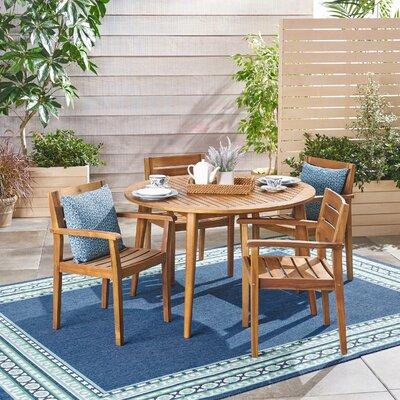 Union Rustic Outdoor Teak Dining Set