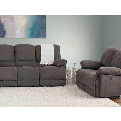 Red Barrel Studio Reclining Living Room Set Gray