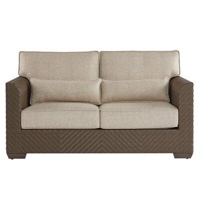 Gracie Oaks Wicker Patio Loveseat Cushions