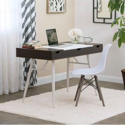 Calico Designs Multi Storage Desk Color Top Frame Dark Walnut White