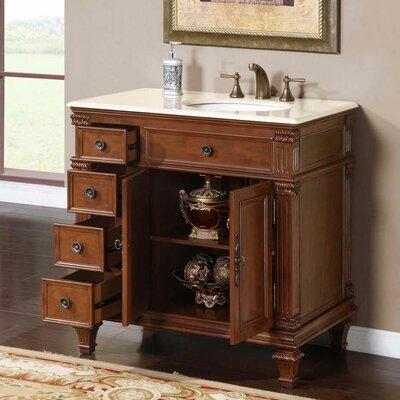 Fleur De Lis Living Single Bathroom Vanity Set Sink Sink On The Right Top