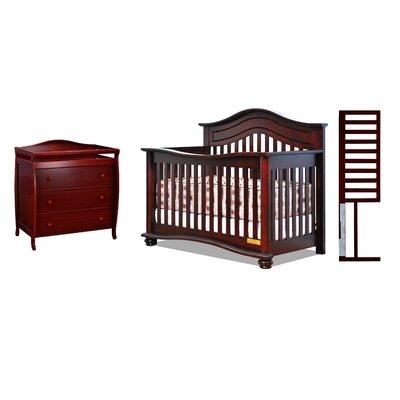 Harriet Bee Convertible Crib Set Cherry