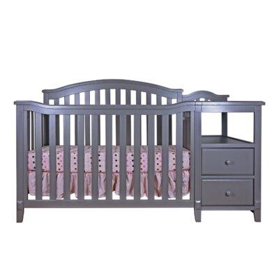 Harriet Bee Van Convertible Crib Changer Gray