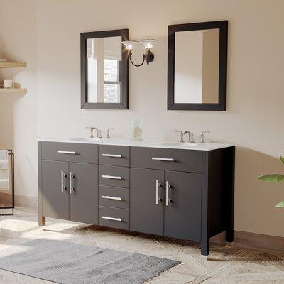 Cambridge Plumbing Double Bathroom Vanity Set Mirror Cambridge Bing