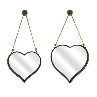 Gracie Oaks Wall Mirror Heart Mirrors
