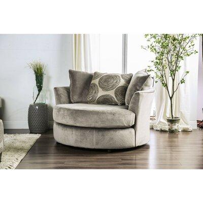 Latitude Run Swivel Armchair Upholstery Gray