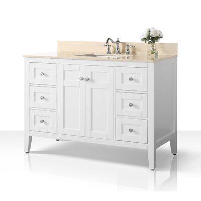House Of Hampton Single Bathroom Vanity Set House Of Hampton Top Beige Base White