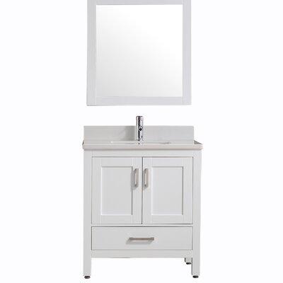 Ebern Spitle Single Bathroom Vanity Set Mirror Product Photo