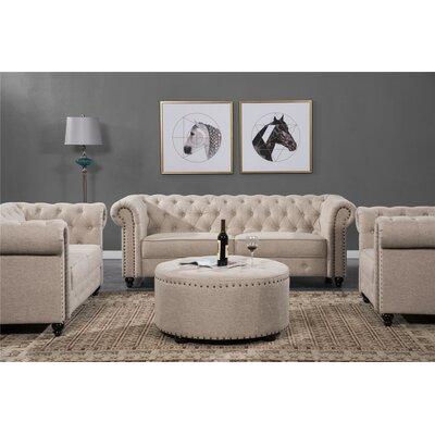 Charlton Home Configurable Living Room Set Upholstery Gray