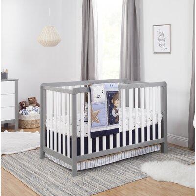 Carters Convertible Crib Gray White