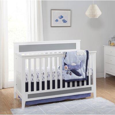 Carters Convertible Crib White Gray