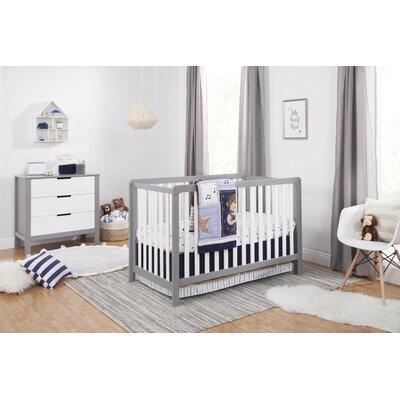 Carters Convertible Crib Set Gray White