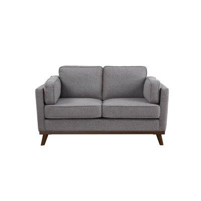 Wrought Studio Loveseat Upholstery Gray