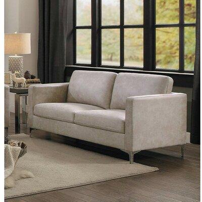 Williston Forge Loveseat Upholstery Beige
