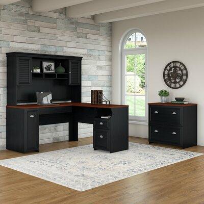 Beachcrest Home Desk Office Suite Black
