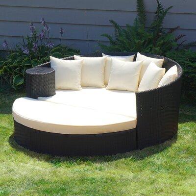 Latitude Run Rattan Wicker Patio Daybed Cushions