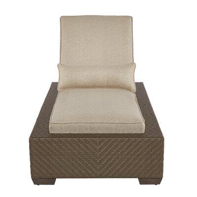 Gracie Oaks Reclining Chaise Lounge Cushion