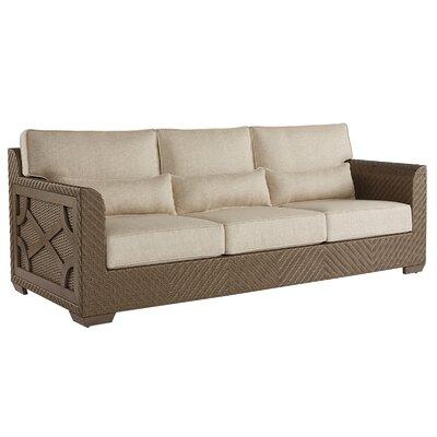 Gracie Oaks Wicker Patio Sofa Cushions