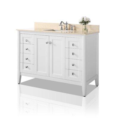 Ancerre Designs Single Bathroom Vanity Set Base White Top White