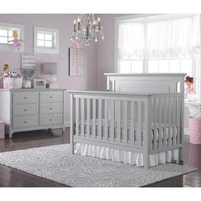 Ti Amo Convertible Crib Set Misty Grey
