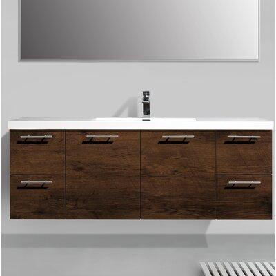 Orren Ellis Single Sink Bathroom Vanity Base Rosewood