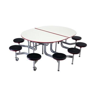 Mobile Stool Table Elliptical Stools