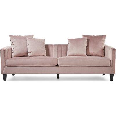 Elle Decor Chesterfield Sofa Upholstery Mauve Pink Velvet