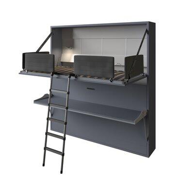 Brayden Studio Twin Over Twin Bed Silver