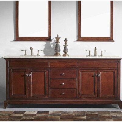 Charlton Home Double Bathroom Vanity Set Base Brown