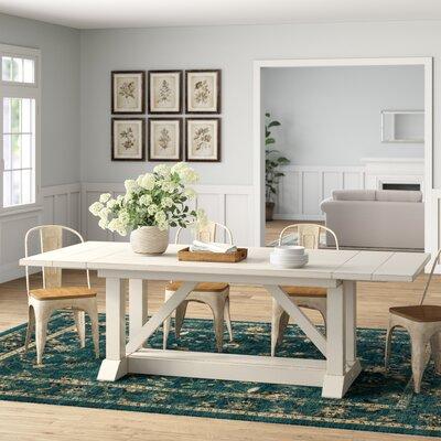 Birch Lane Heritage Extendable Dining Table Cream White