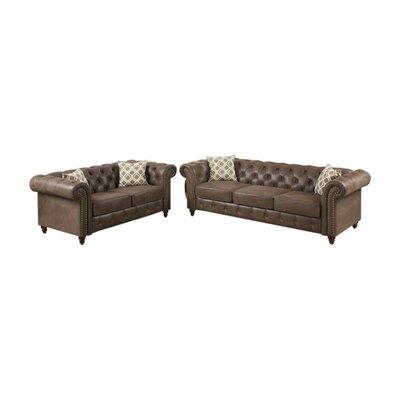 Alcott Hill Living Room Set Upholstery Coffee Brown