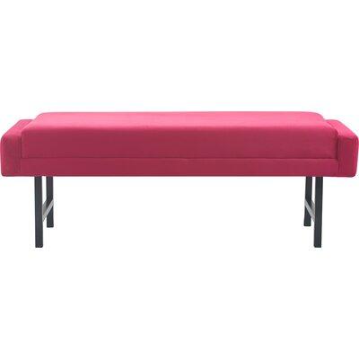 Elle Decor Modern Upholstered Bench Fuchsia