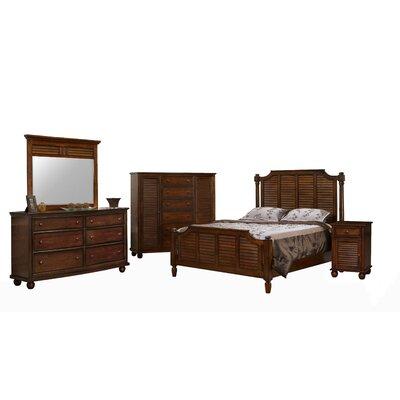 Khang Shutter Wood Panel Bedroom Set
