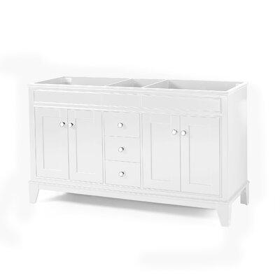 Home Loft Concepts Locke Double Bathroom Vanity Base Only Base White