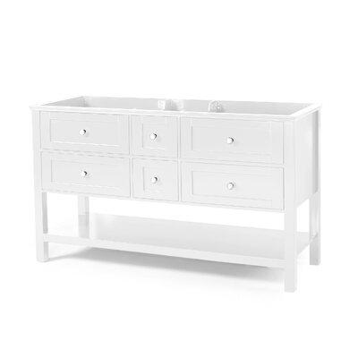 Home Loft Concepts Johnson Double Bathroom Vanity Base Only Base White