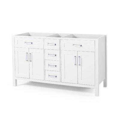 Home Loft Concepts Sharp Double Bathroom Vanity Base Only Base White
