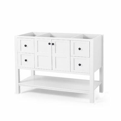 Home Loft Concepts Bethune Single Bathroom Vanity Base Only Base White