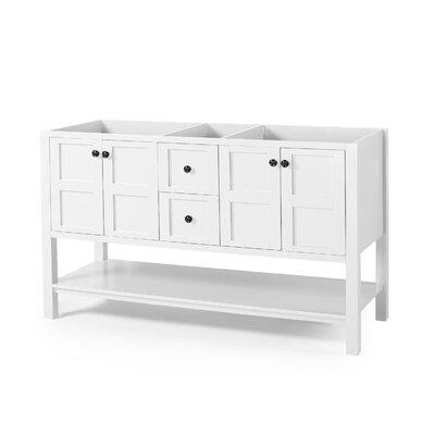 Home Loft Concepts Bethune Double Bathroom Vanity Base Only Base White