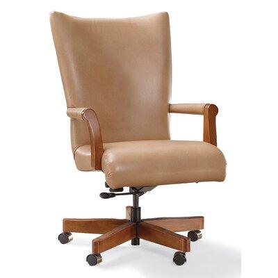 Fairfield Chair Swivel Executive Chair Frame Walnut Upholstery Barley