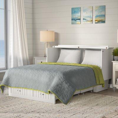 Beachcrest Home Queen Storage Platform Bed Mattress White